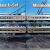 U Boat Set No. 540, 4 Car, Twin Headlight, Liftup Windows, Circa 1970